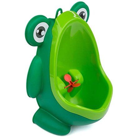 Potty Training Baby/Toddler Urinal with Aiming Target – Free-Standing and Wall-Mount Design – Green