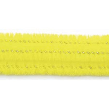Chenille Stems Pipe Cleaners, Yellow, 6mm - 25 - Chenille Pipe Cleaners