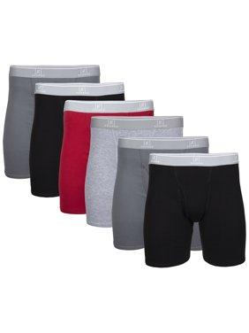 George Men's Regular Leg Boxer Briefs, 6-Pack