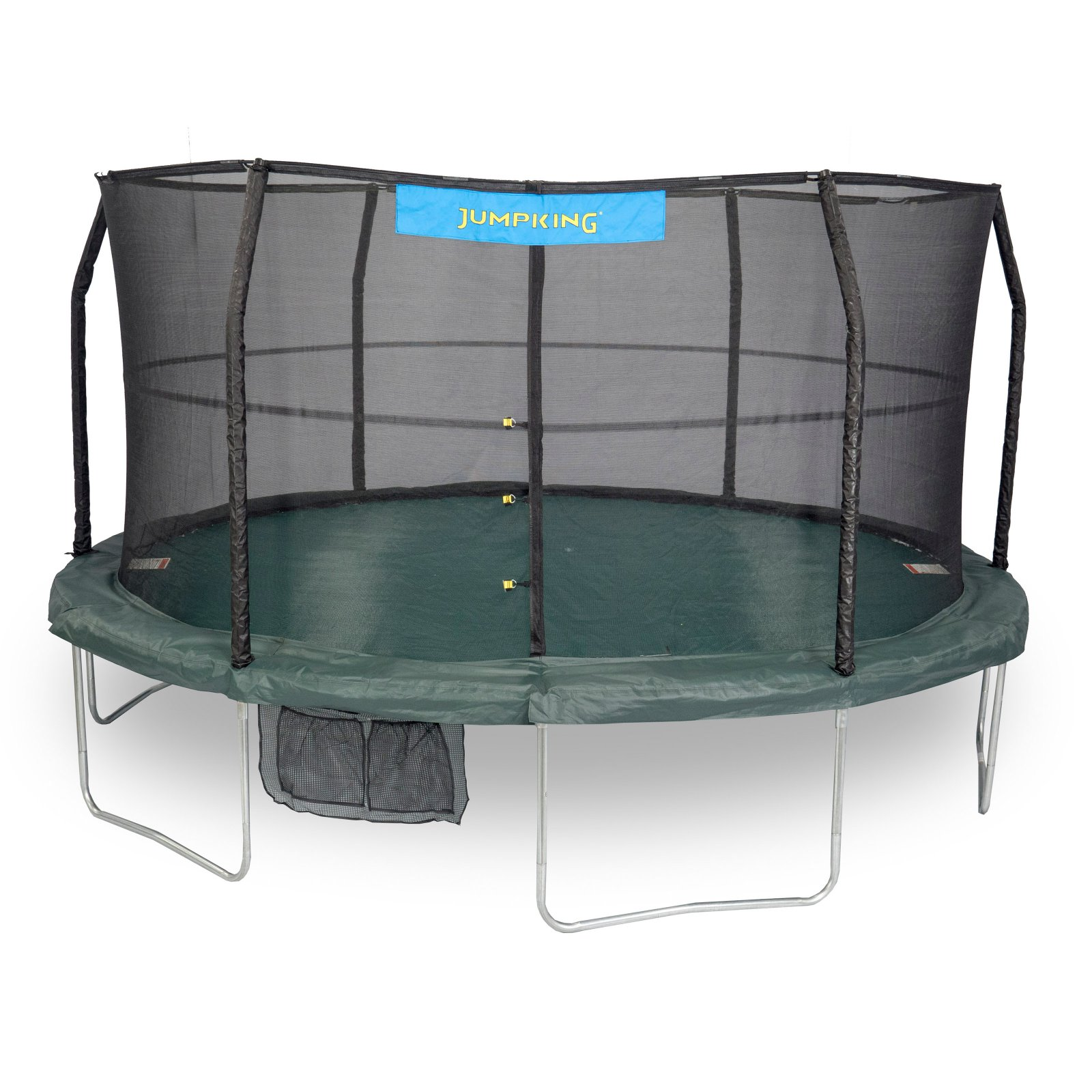 Jumpking 15-Foot Trampoline, with Safety Enclosure Combo, Green (Box 1 of 2)