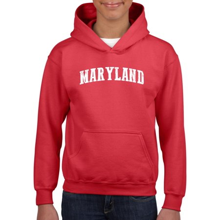 MD Maryland Map Baltimore Flag Terrapins Terps Home University of Maryland  Youth Hoodies Sweater