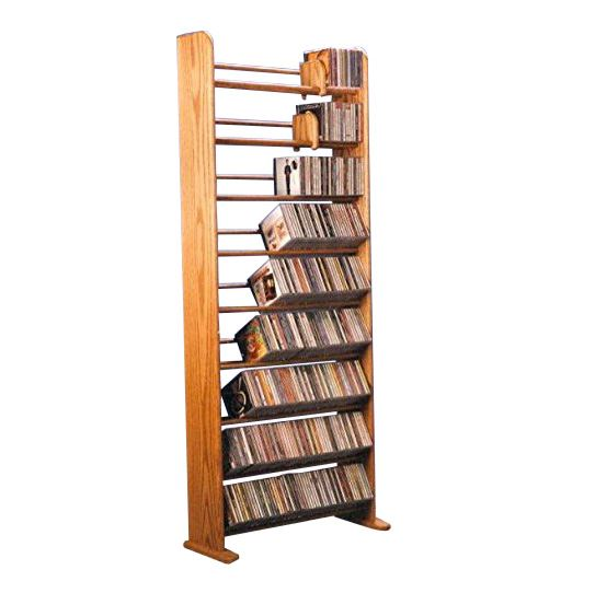 The Wood Shed 901 CD Rack - Dark