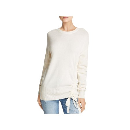 Joie Womens Iphis Wool Blend Self Tie Pullover Sweater Ivory L