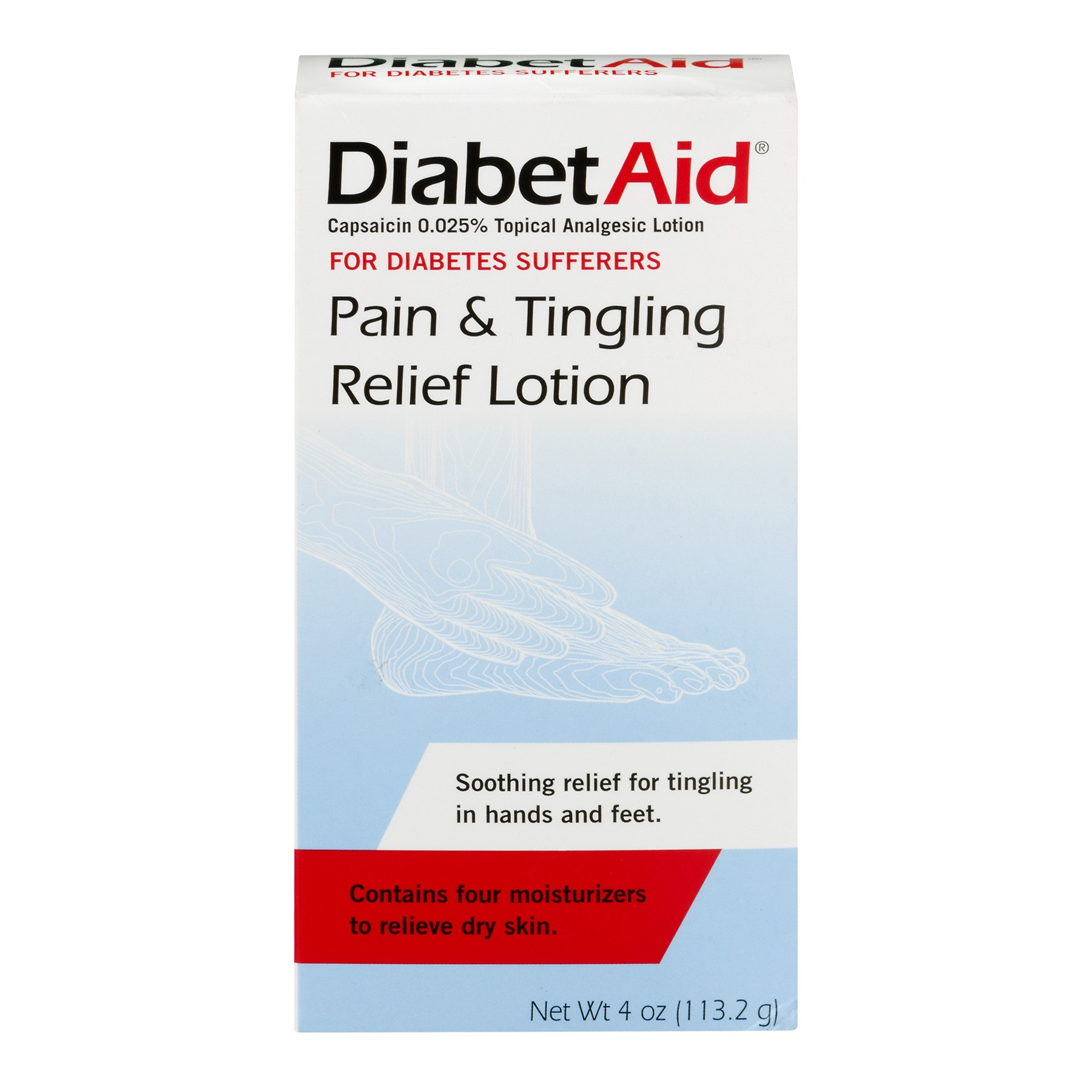Diabetaid Pain Tingle Relief Lotion 4 Fl Oz Walmart Com