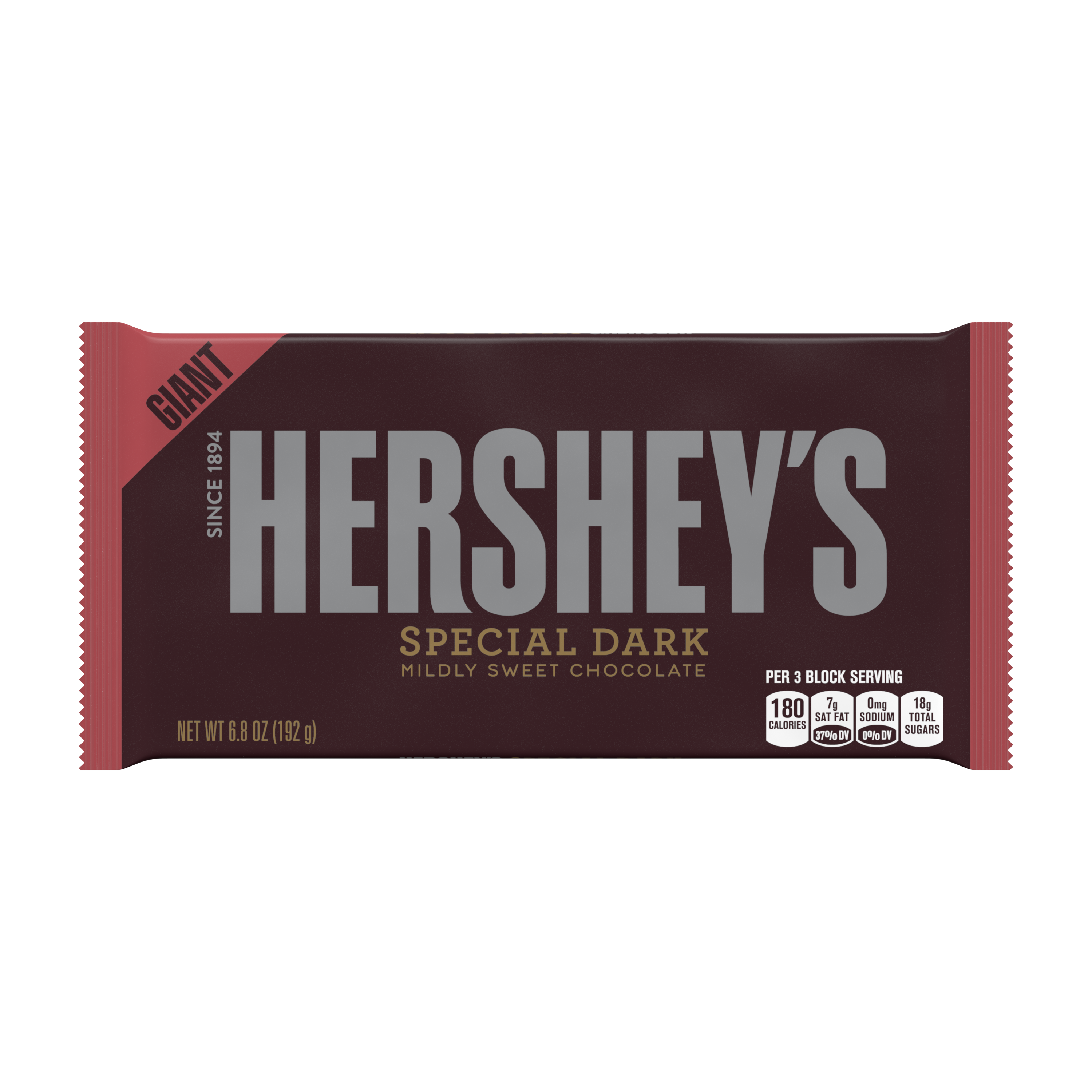 Hershey's Special Dark, Chocolate Candy Giant Bar, 6.8 Oz