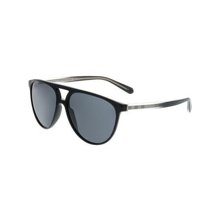 c3e3dd150b50 Burberry - Burberry Men's Mirrored BE4254-300187-58 Black Aviator Sunglasses  - Walmart.com
