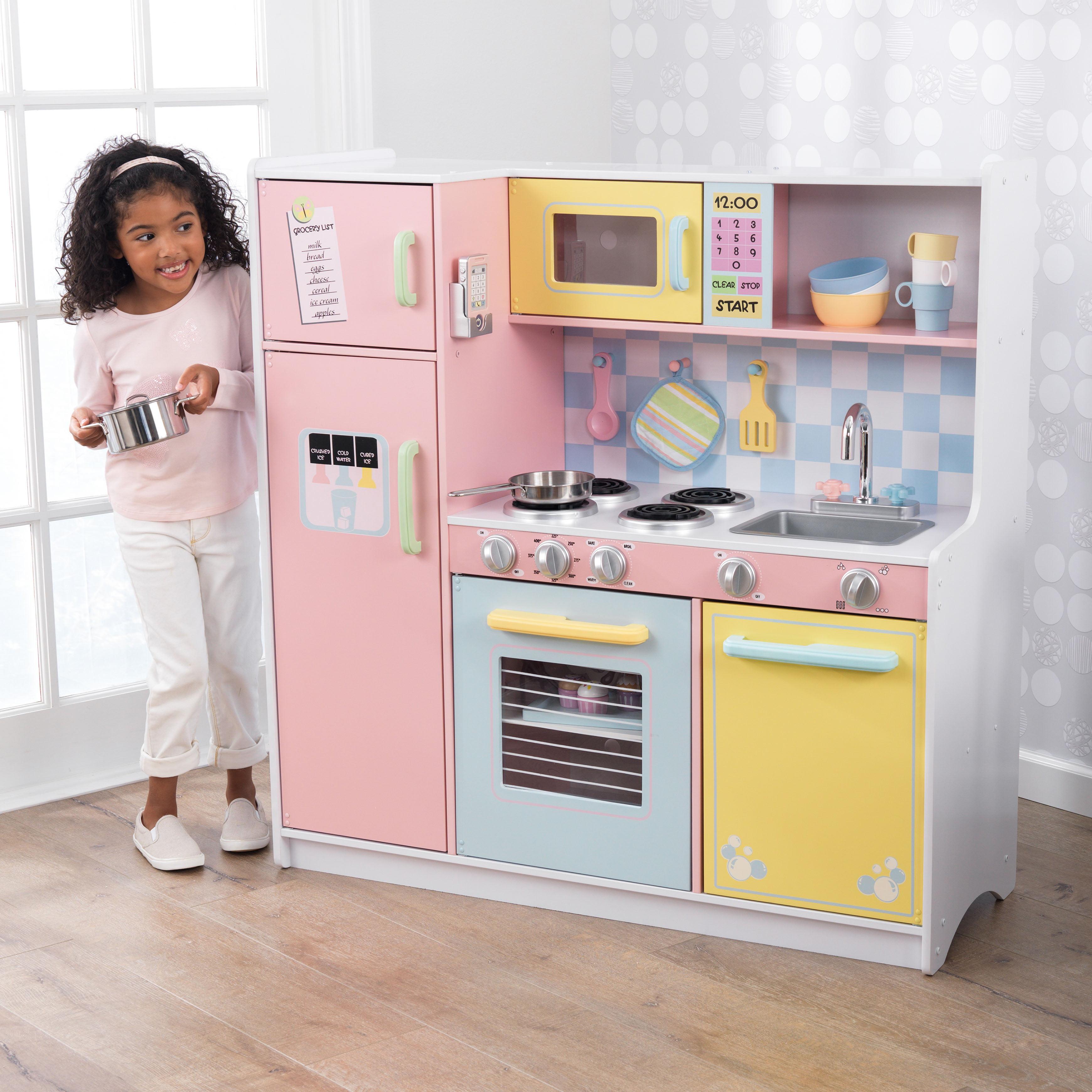 kidkraft large pastel kitchen - walmart