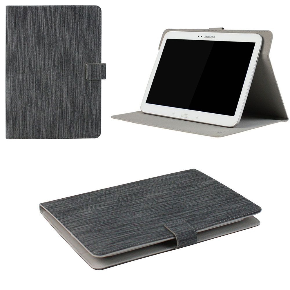 "JAVOedge Black Stripe Pattern Universal Book Case for 7-8"" Tablets, iPad Mini, Samsung Tab, Nexus 7, Nook HD and More"