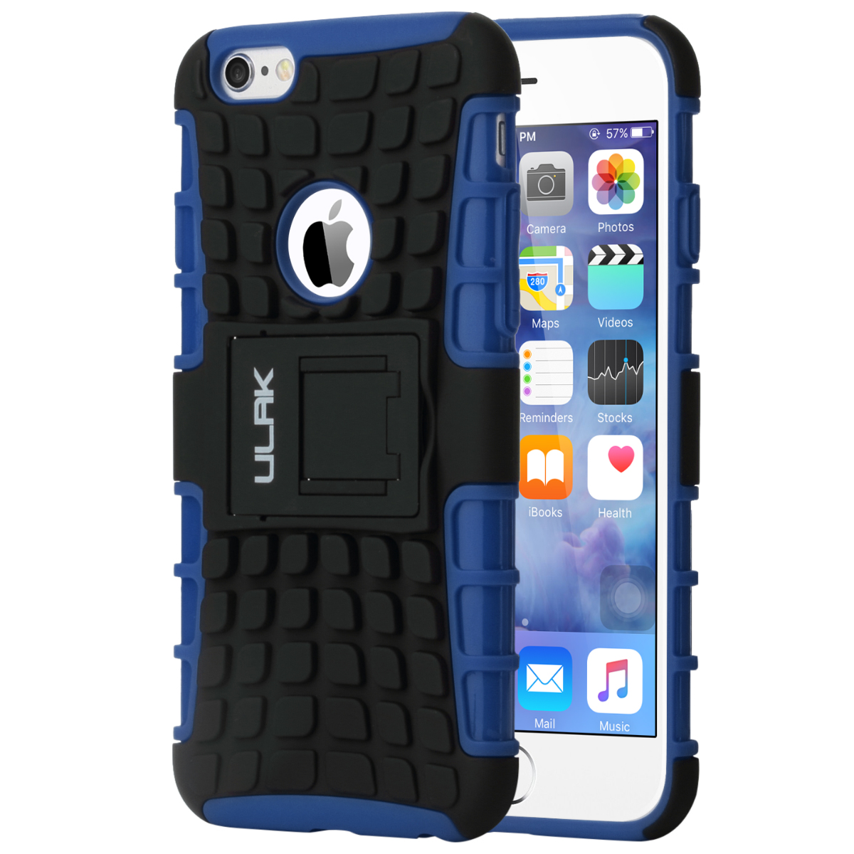 ULAK iPhone 6 Case 4.7 Inch with Hybrid Dual Layer Hard Rugged Case With Kickstand