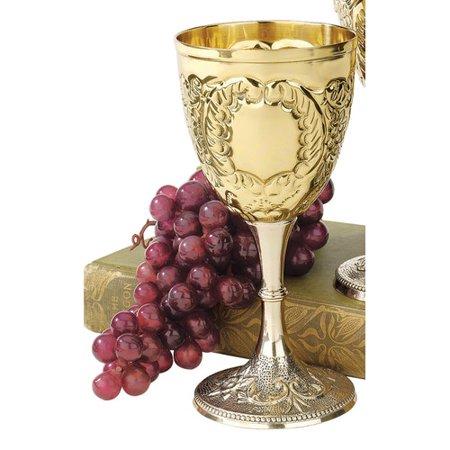 Design Toscano The King's Royal 8 oz. Brass Goblet
