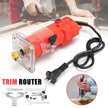 220V 300W 30000RPM 1/4inch 6.35mm Electric Hand Trimmer Router Woodworking cutter Edge Wood Laminate Palm Router Joiners Tool Woodworking