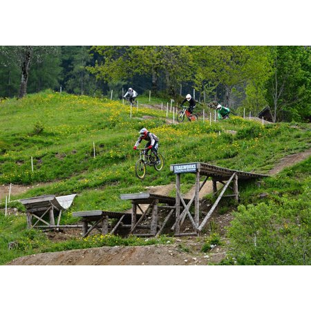 LAMINATED POSTER Bike Obstacles Hill Bike Park Motocross Bike Path Poster Print 24 x