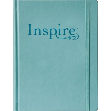 Inspire Bible Large Print NLT (Hardcover LeatherLike, Tranquil Blue) : The Bible for Coloring & Creative Journaling Screen Printed Journal