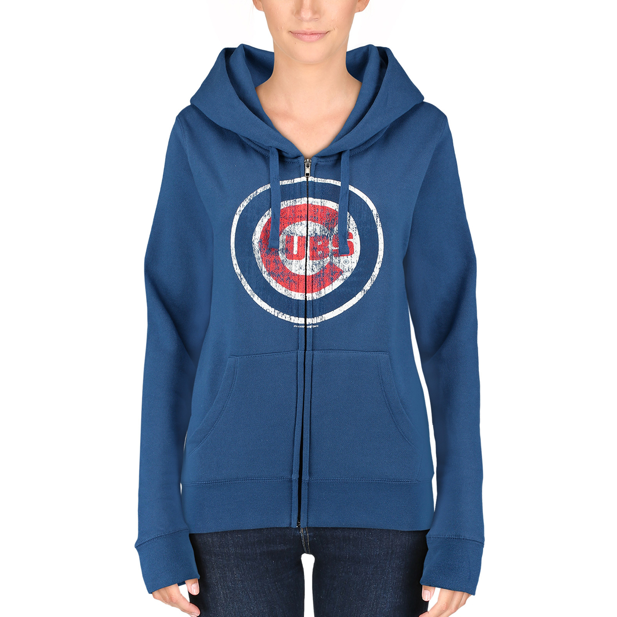 Chicago Cubs 5th & Ocean by New Era Women's Core Fleece Hoodie - Royal Blue