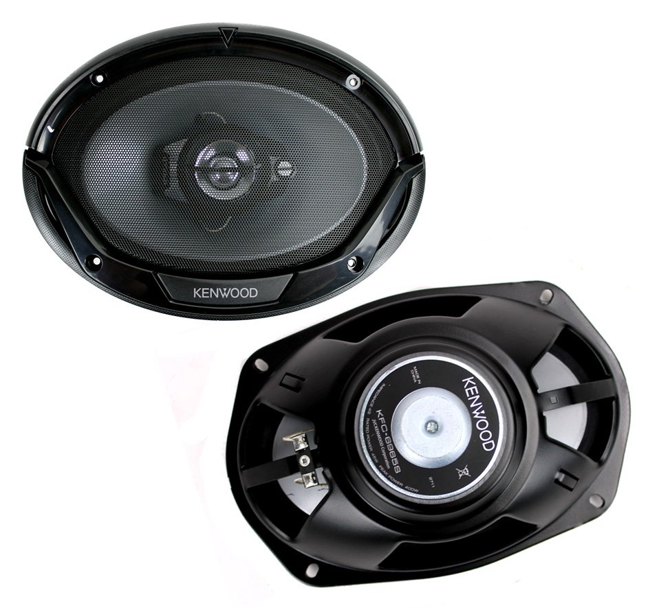 Kenwood KFC-6965S 6x9 3-Way 400W Speakers 45W RMS, Black