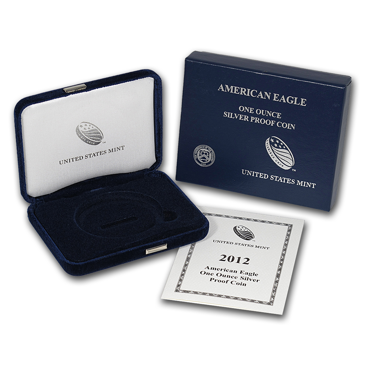 OGP - 2012 Silver American Eagle Proof (Empty Box & COA)