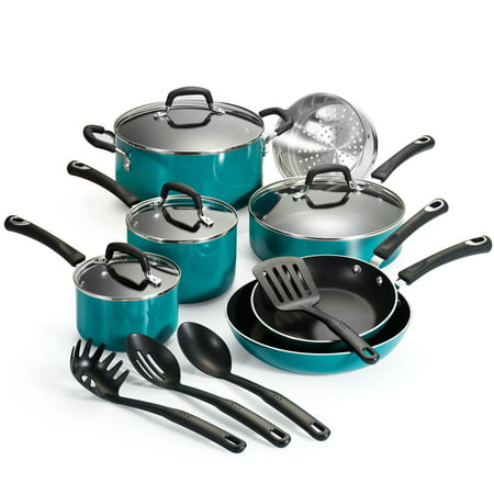 Tramontina Select Non-Stick Teal Cookware Set, 15 Piece