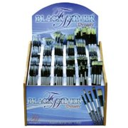 Dynasty FM4900D Black Silver Blended Synthetic Watercolor Brush Display Assortment