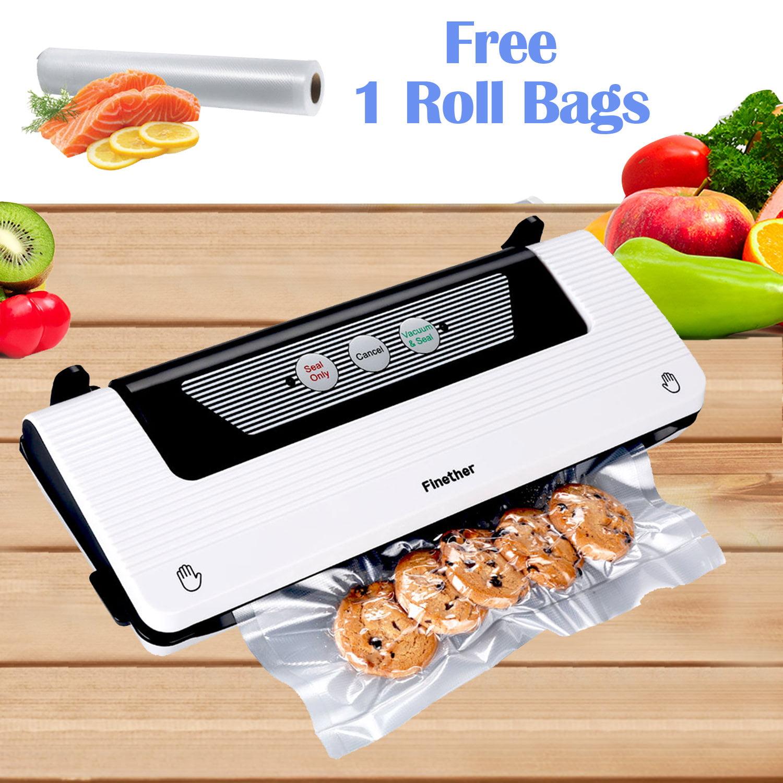 Food Saver Vacuum Sealer Machine With Bags Roll Set Sealing System Kitchen Fresh