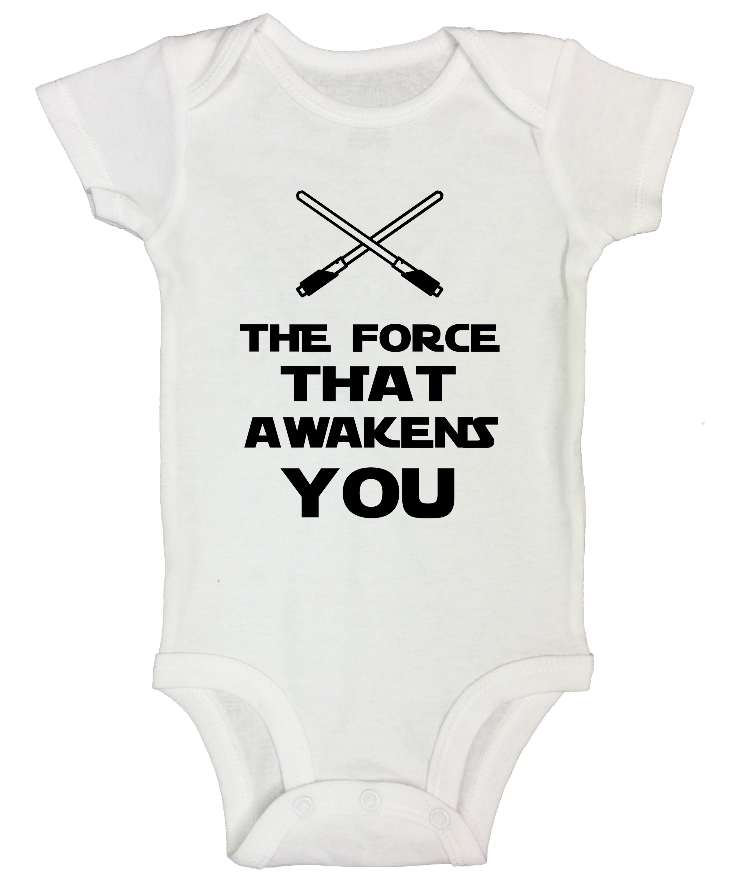 Force that Awakens You Star Wars themed Gerber Baby Onesie Newborn 24M