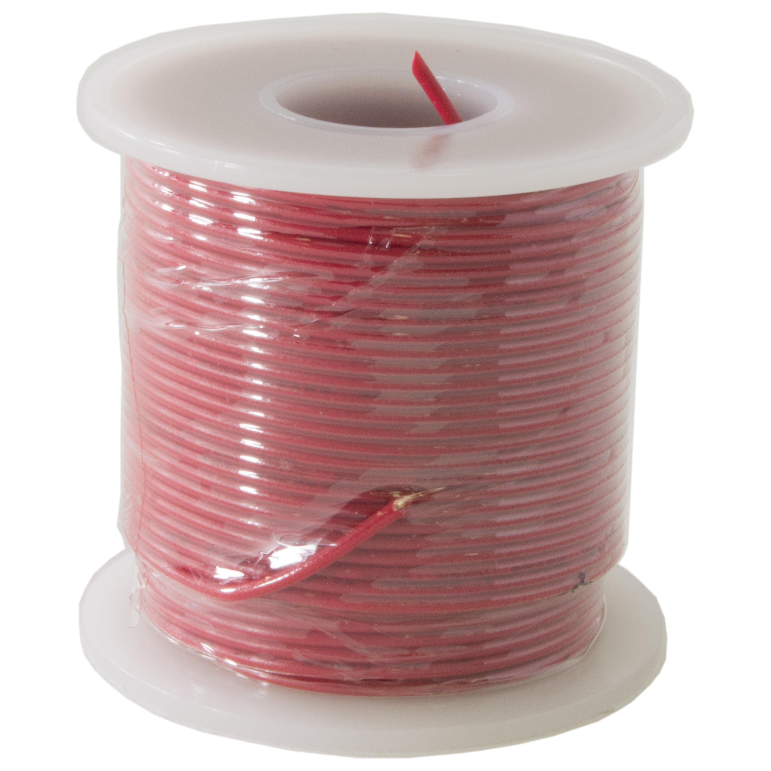 Hook Up Wire 22 Gauge Solid (100' / Red)