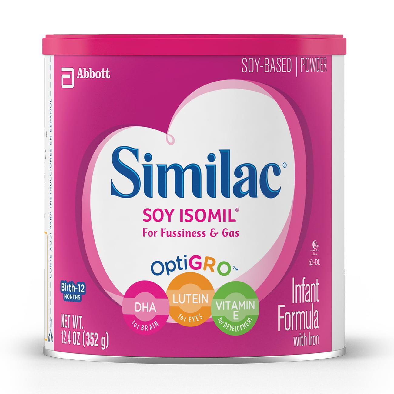 Similiac Soy Isomil (6 Pack) Infant Formula with Iron, Powder, 12.4 oz