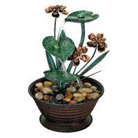 Foreside Home and Garden Lily Pad Fountain