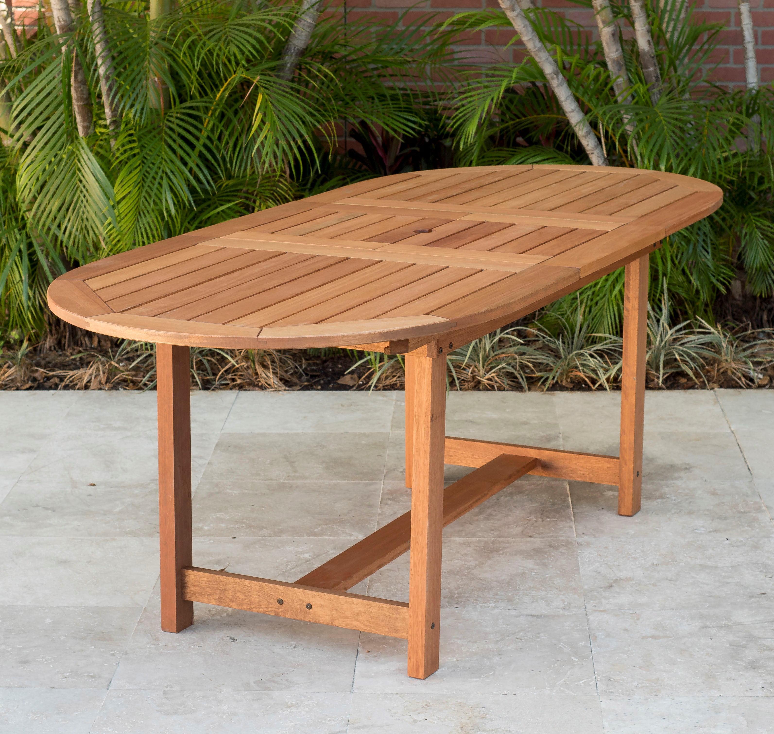 Amazonia Arizona 7 Piece Patio Extendable Oval Table Dining Set Eucalyptus Wood Ideal For Outdoors And Indoors Walmart Com Walmart Com