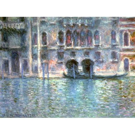 - Venice, Palazzo Da Mula, 1908 Impressionism Italy Canal Scene Print Wall Art By Claude Monet