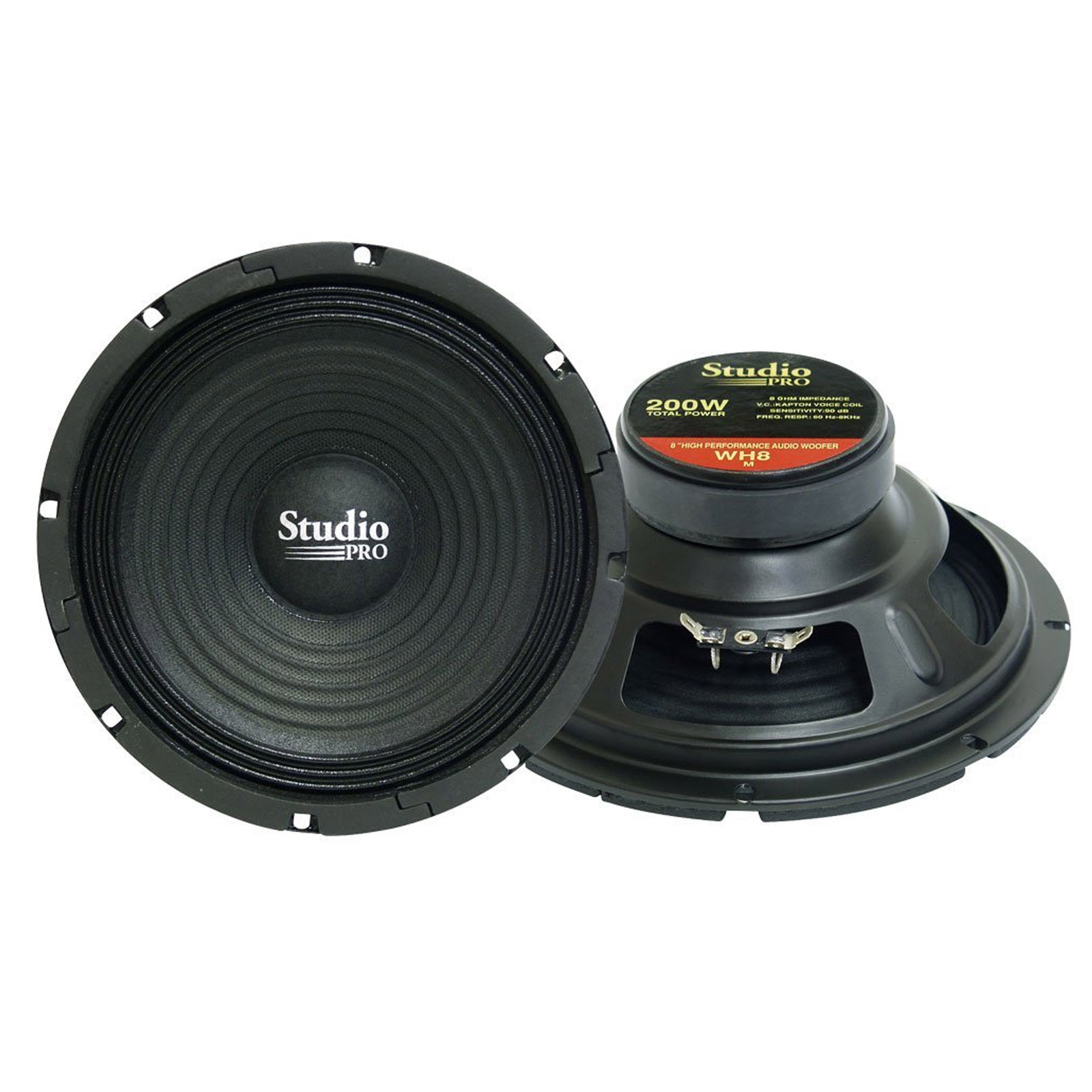 "Pyramid 8"" 200 Watt High Power Paper Cone 8 Ohm Subwoofer"