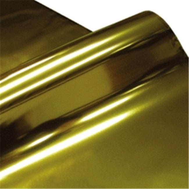 Cindus 78690 30 in. x 5 ft. Cellophane Wrap Roll - Metallic Gold & Silver