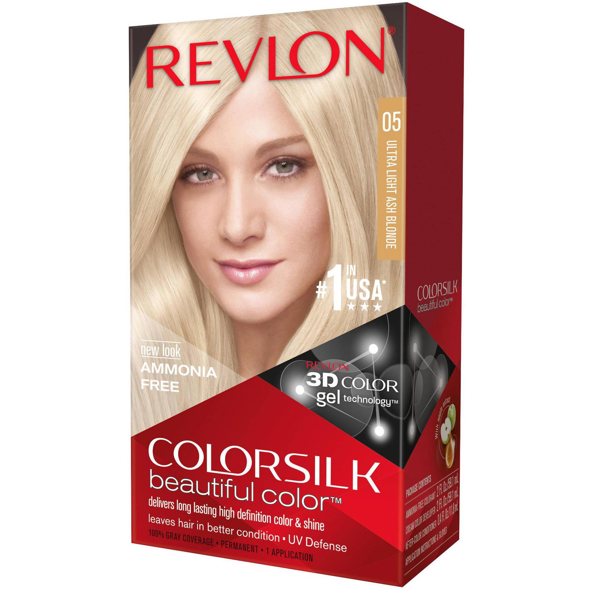 Revlon Colorsilk Beautiful Color Permanent Hair Color, 05 Ultra Light Ash Blonde