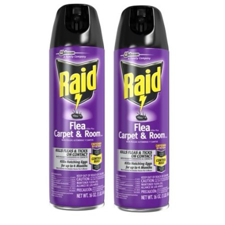 (2 pack) Raid Flea And Tick Killer, Carpet and Room Spray, 16 oz