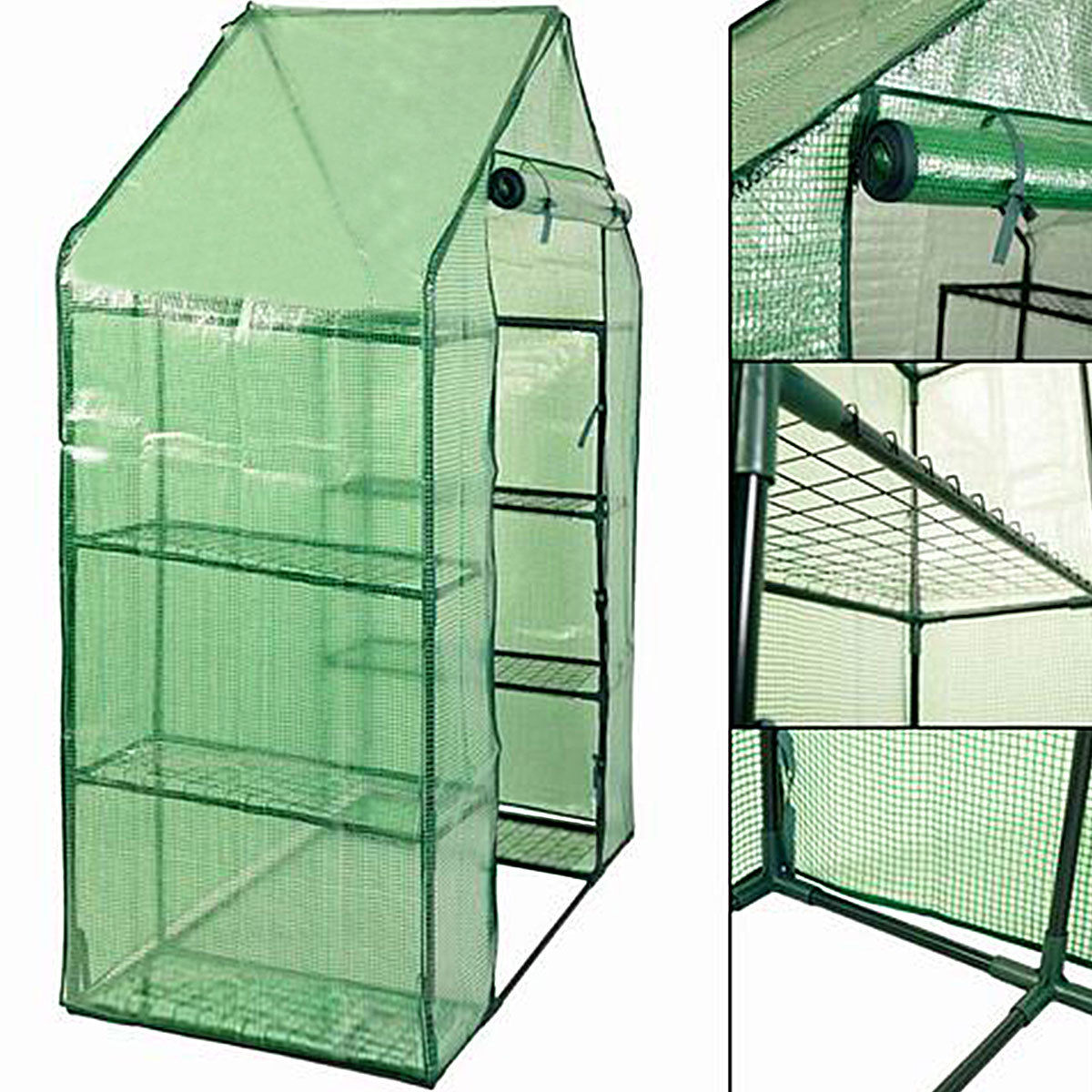 Portable Mini Walk In Outdoor 4 Tier 8 Shelves Greenhouse - image 7 of 9