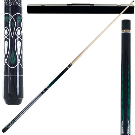 Ivory Pool Cue - Emerald Green Laser Designer Pool Stick