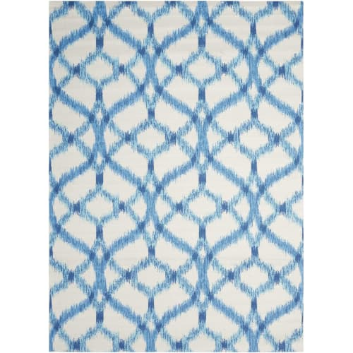 "Waverly Sun & Shade ""Izmir Ikat"" Aegean Indoor/Outdoor Area Rug by Nourison"