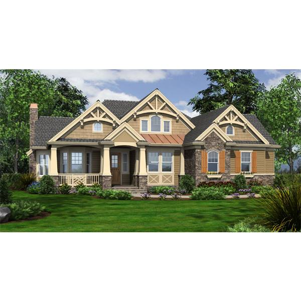 TheHouseDesigners-3249 Cottage House Plan with Crawl Space Foundation (5 Printed Sets)