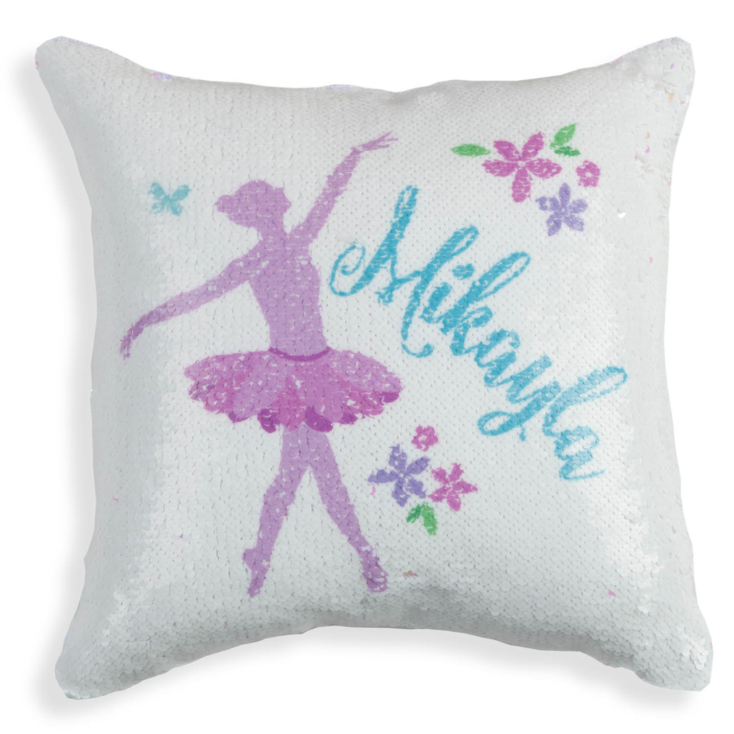 Personalized Dance Reversible Sequin Pillow - 16x16