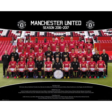 Manchester United Team Photo 1617 Poster Print (16 x 20)