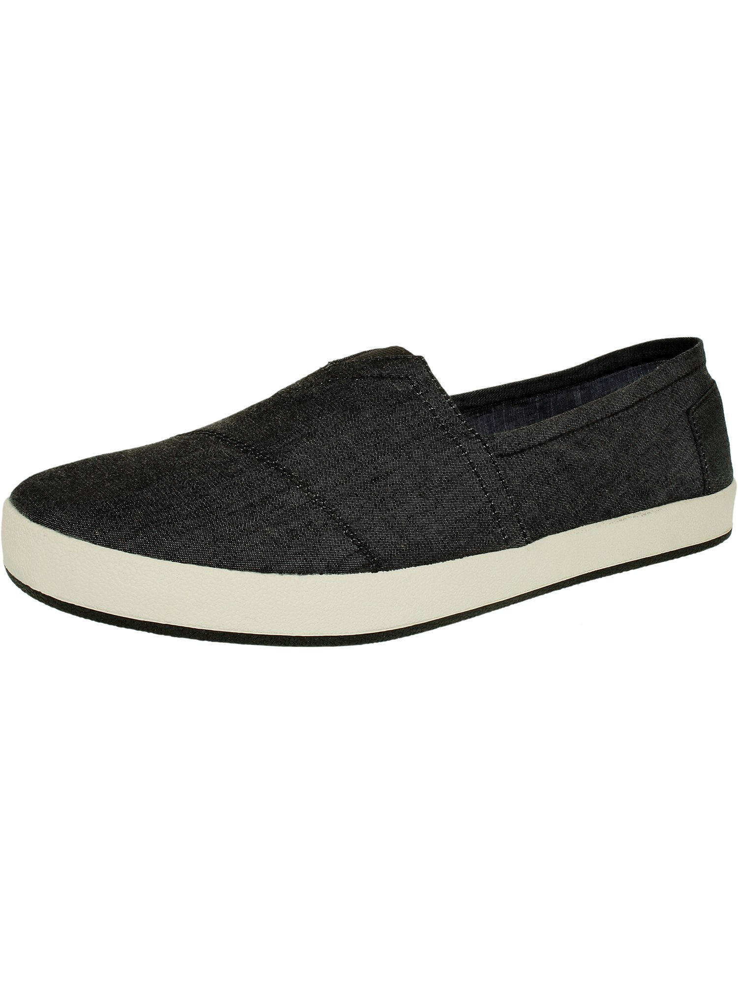 7c26f3f190f Toms Men s Avalon Slipon Chambray Black Ankle-High Fabric Flat Shoe - 8.5M