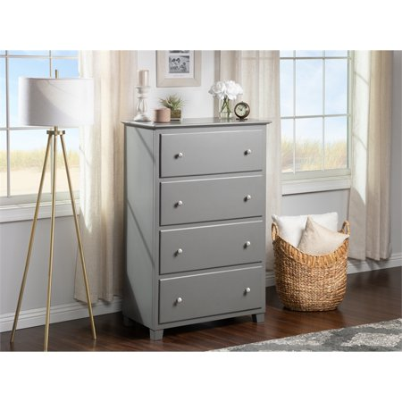 Bowery Hill Solid Wood 4-Drawer Chest in Gray - image 7 of 13