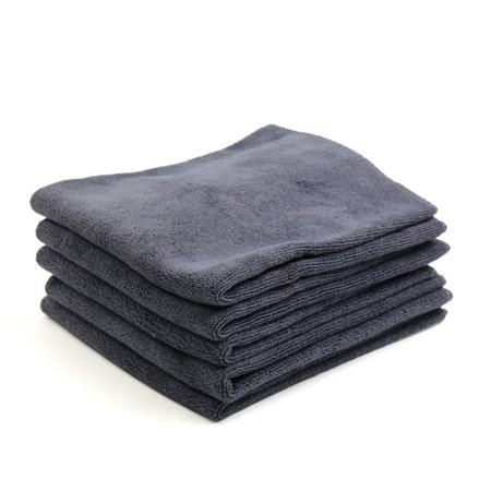 5 Pcs High Absorbing Microfiber Fabric, Polyester, Polymide Car Clean Cloth Towel Protective for Auto Car Gray