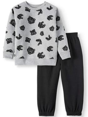 Garanimals Toddler Boys Printed Sweatshirt and Sweatpants, 2pc Outfit Set