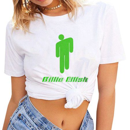 House Music T-shirts - Fancyleo Women's Billie Eilish Logo Music Lovers Fans Gift T-Shirts Summer Tee Tops