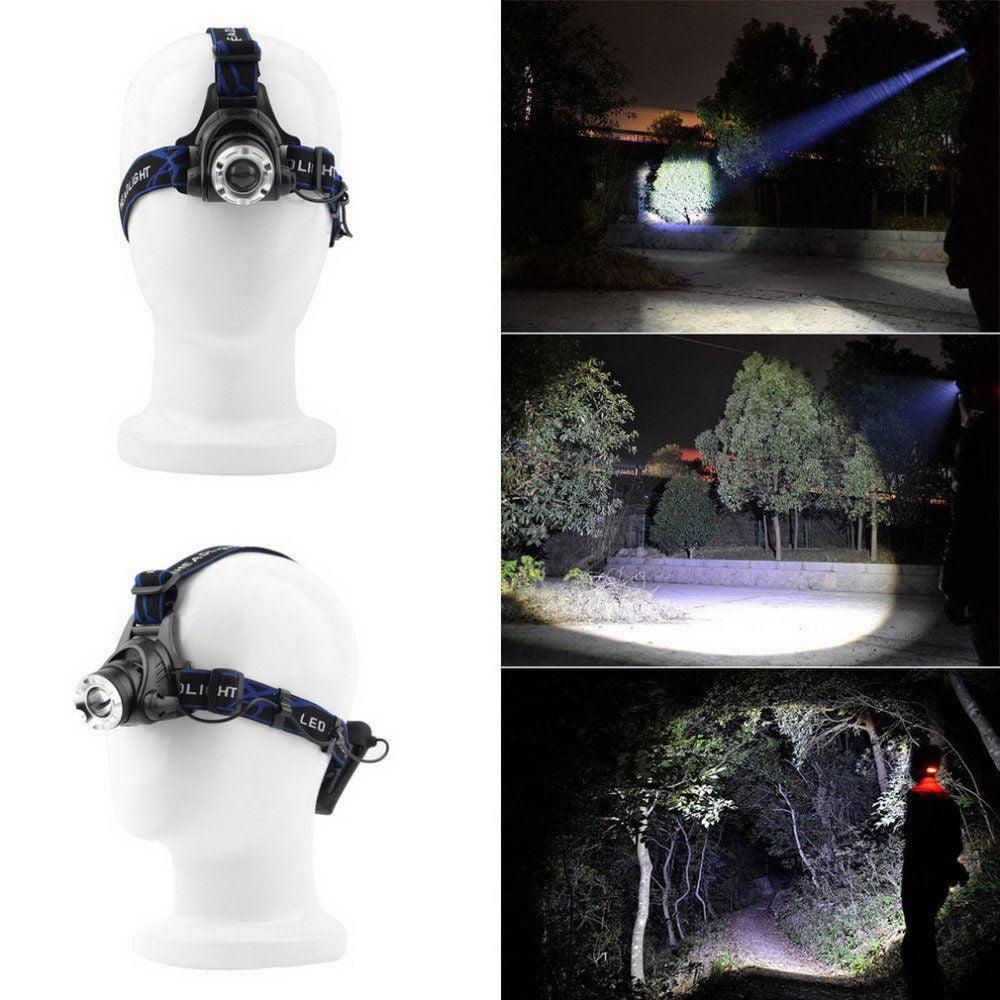 Headlamp LED Headlight Super Bright Premium USB Reable Head Torch Waterproof Design - 3 Modes Comfortable Best Equipment Lamp Bulb Night Running Camping