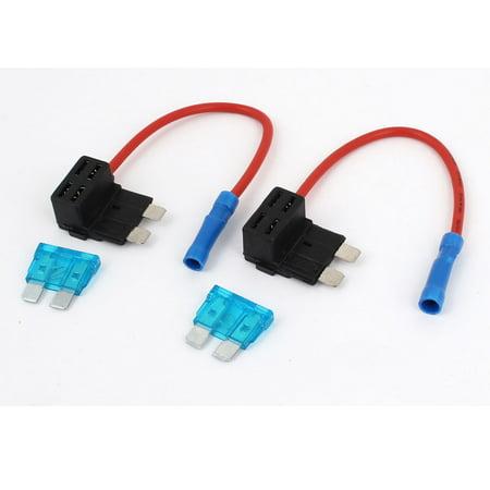 Unique Bargains 2PCS Add A Circuit Fuse Tap Piggy Back Mini Blade Fuse Holder APR ATC - image 2 de 2