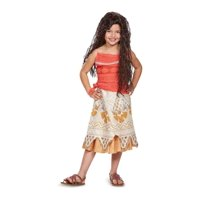 Girls Moana Costume and Wig Set