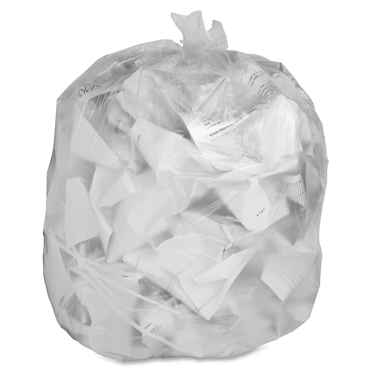 Genuine Joe Clear Trash Can Liners, 16 gal, 500/carton, GJO01011