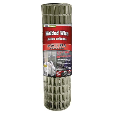 Galvanized Welded Mesh Fence (YARDGARD 1 Inch by 2 Inch Mesh, 24 Inch by 25 Foot Galvanized Welded Wire Fence )