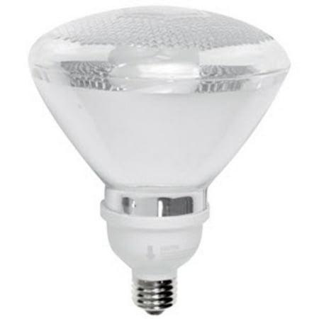 TCP 2P3819 Single 19 Watt Frosted PAR38 Medium (E26) Compact Fluorescent Bulb - (Fluorescent 19 Watt Par38 Reflector)